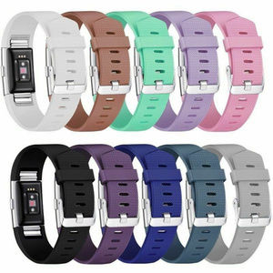 10 Pack Fitbit CHARGE 2 Replacement Silicone Bands
